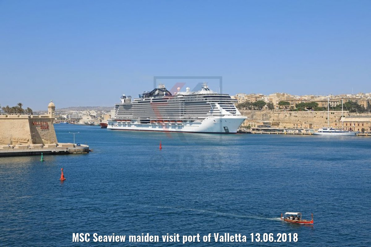 MSC Seaview maiden visit port of Valletta 13.06.2018