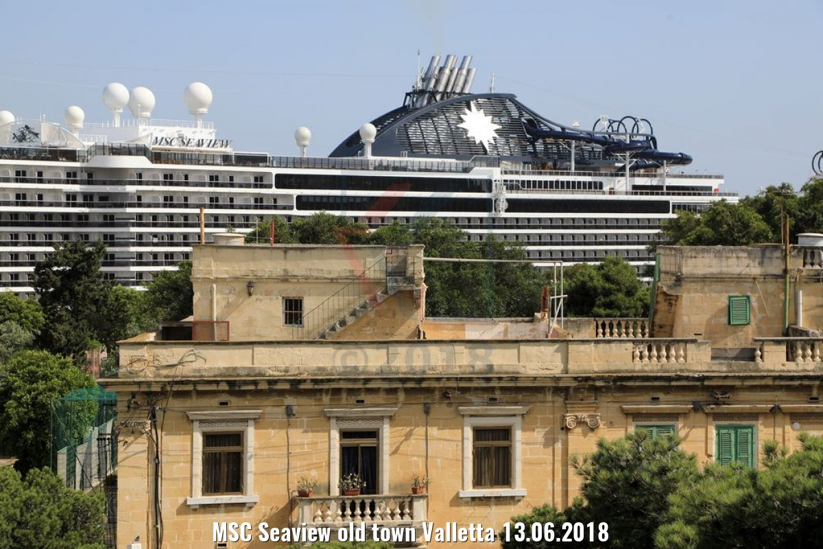 MSC Seaview old town Valletta 13.06.2018
