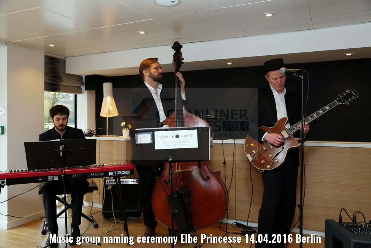 Music group naming ceremony Elbe Princesse 14.04.2016 Berlin