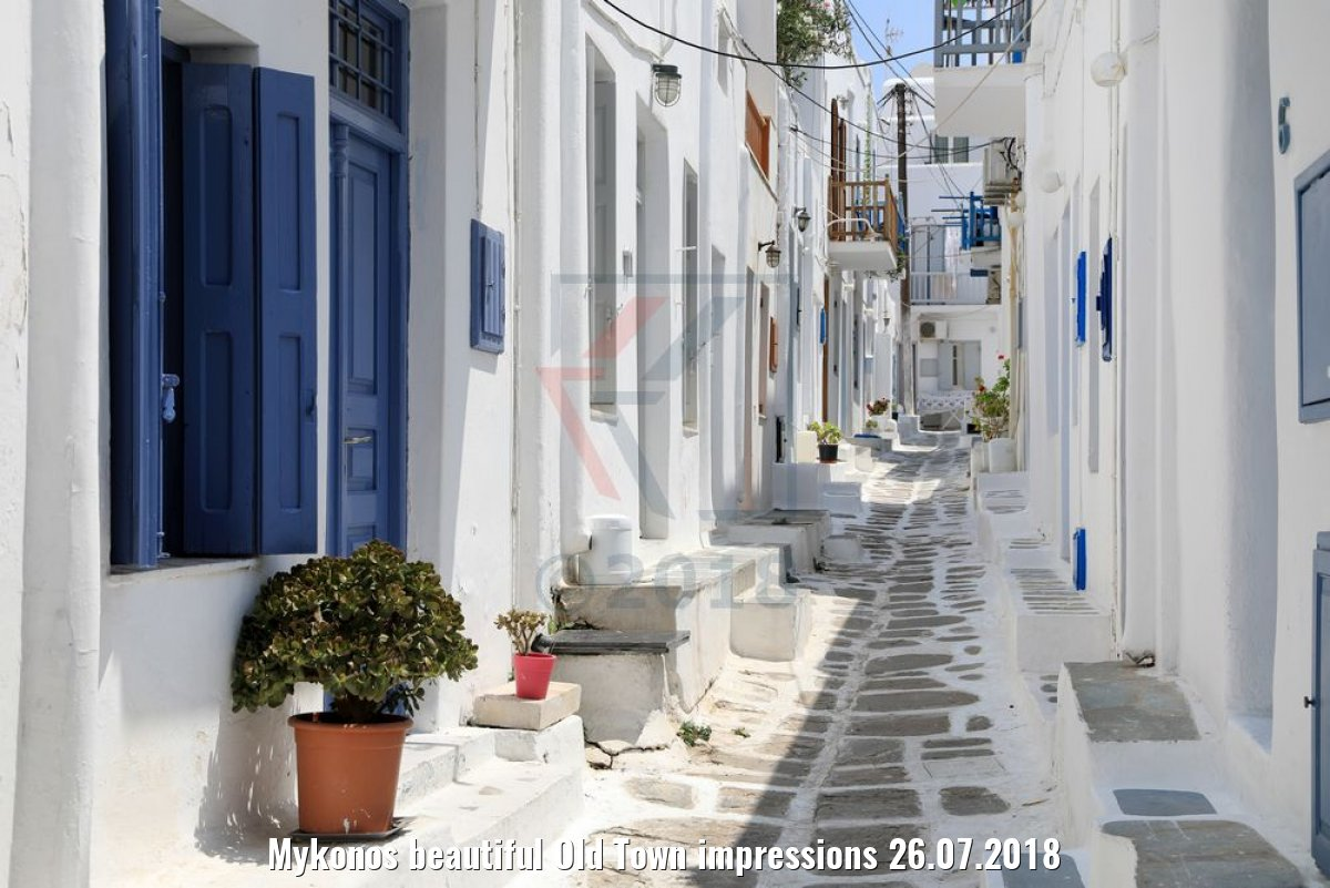 Mykonos beautiful Old Town impressions 26.07.2018