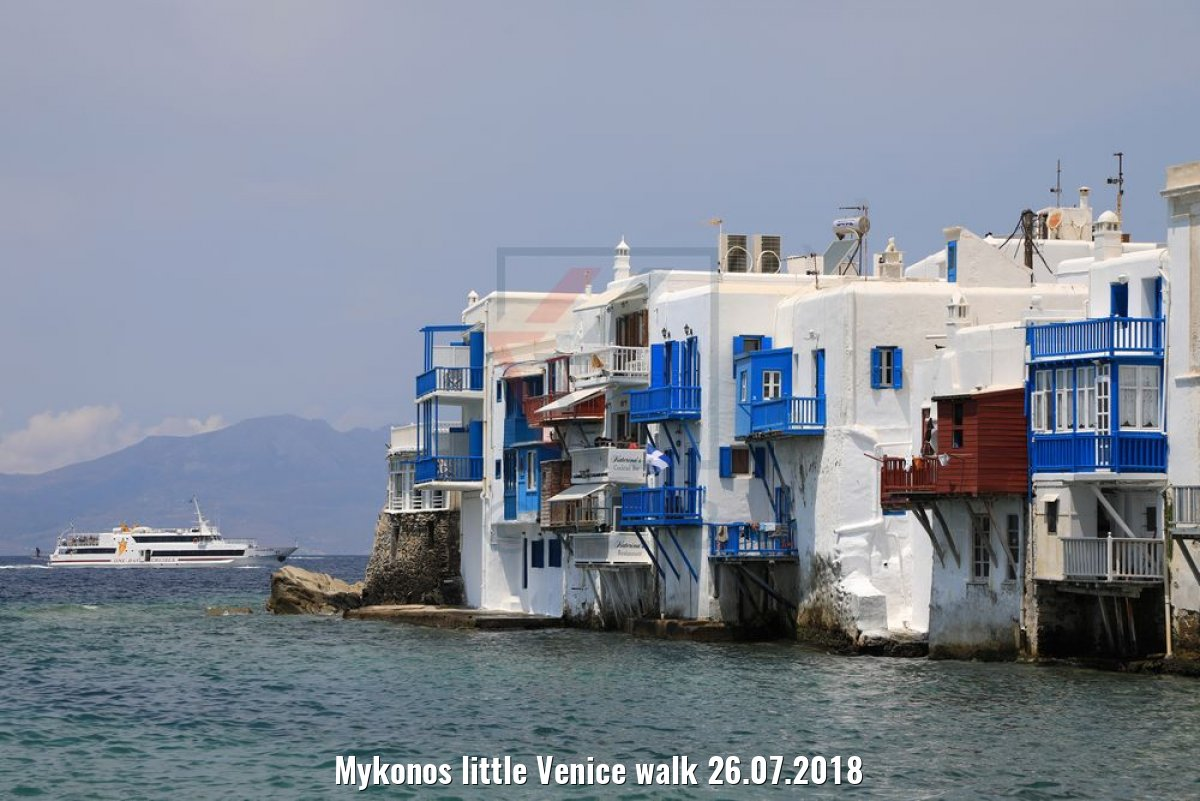Mykonos little Venice walk 26.07.2018
