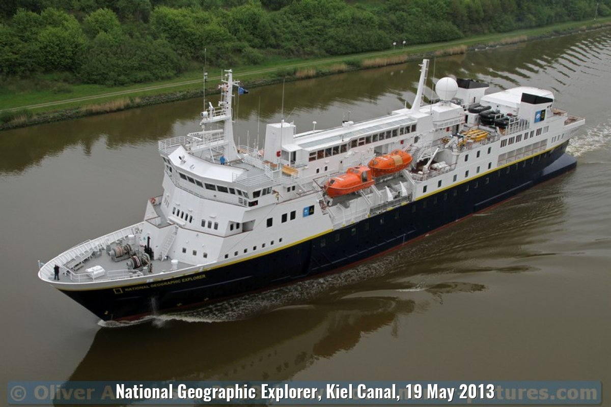 National Geographic Explorer, Kiel Canal, 19 May 2013