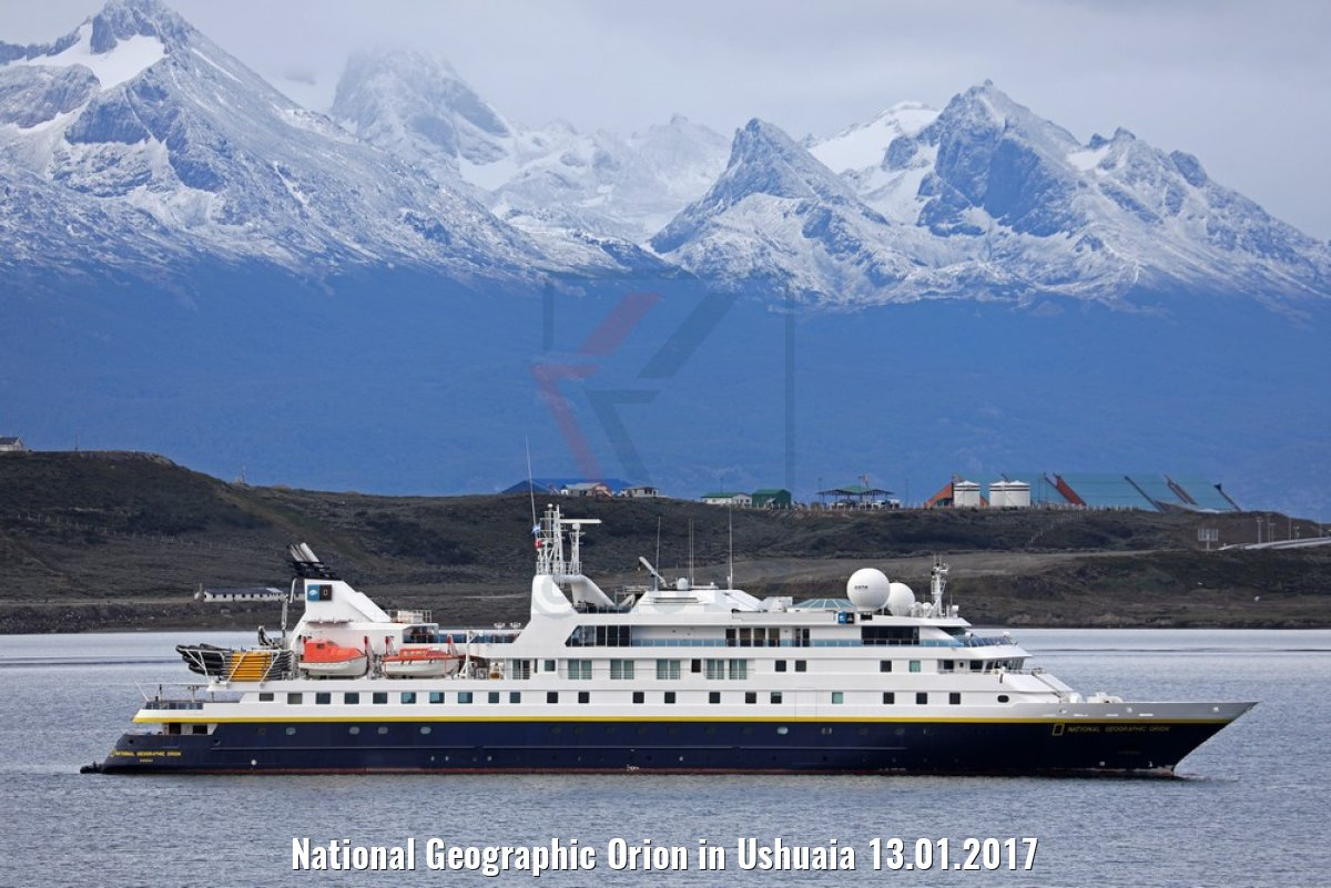 National Geographic Orion in Ushuaia 13.01.2017