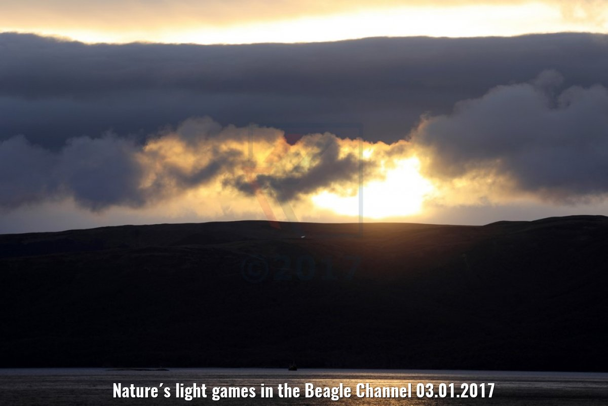 Nature´s light games in the Beagle Channel 03.01.2017