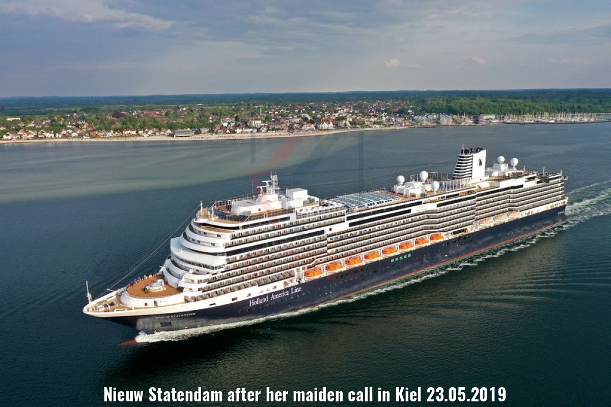 Nieuw Statendam after her maiden call in Kiel 23.05.2019