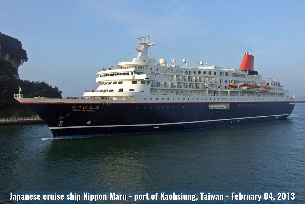 Japanese cruise ship Nippon Maru - port of Kaohsiung, Taiwan - February 04, 2013