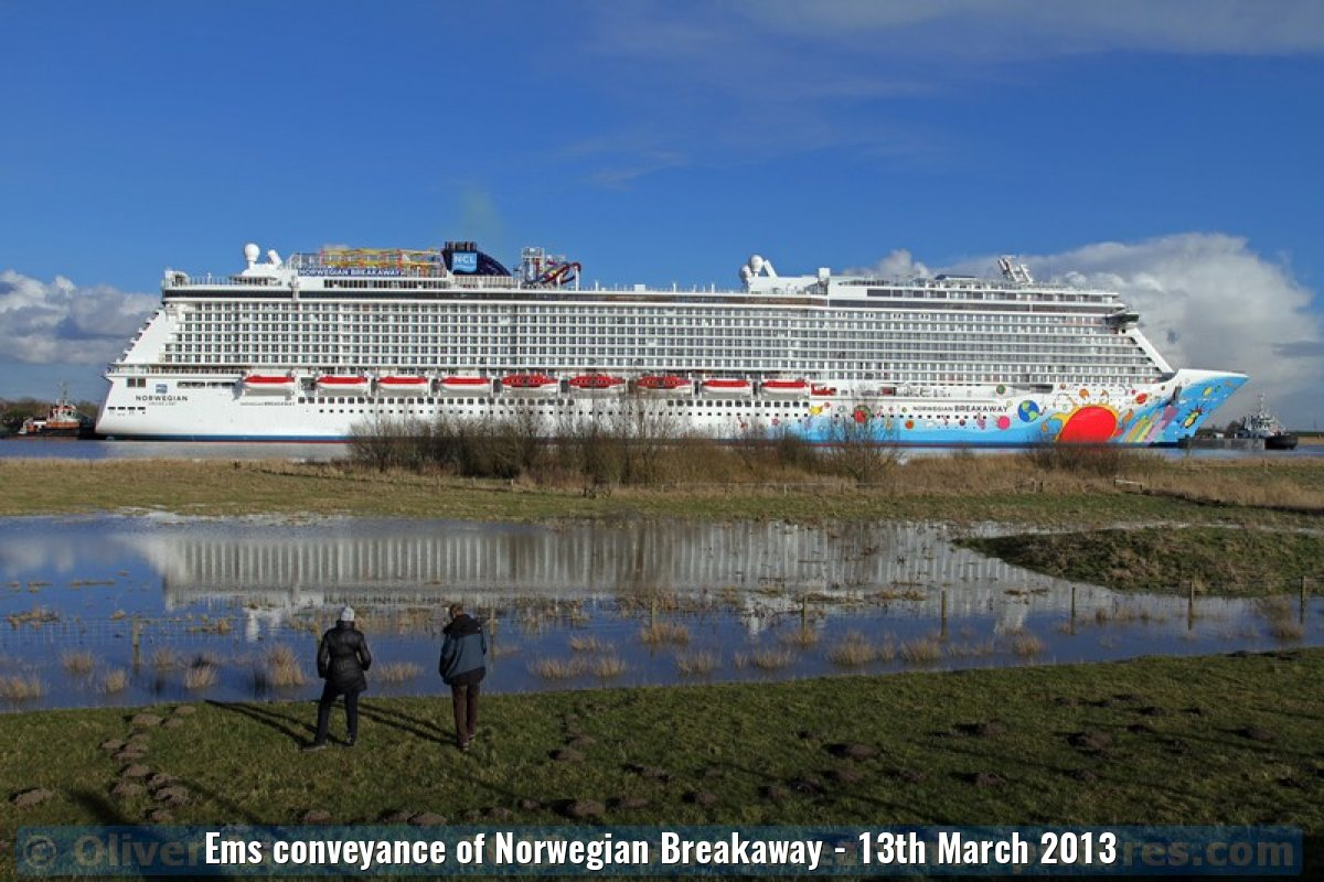 Ems conveyance of Norwegian Breakaway - 13th March 2013