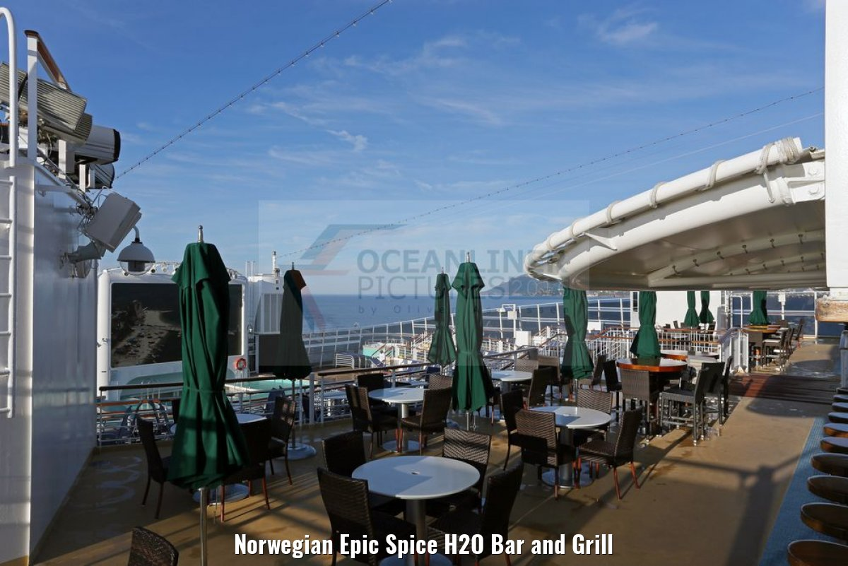 Norwegian Epic Spice H2O Bar and Grill