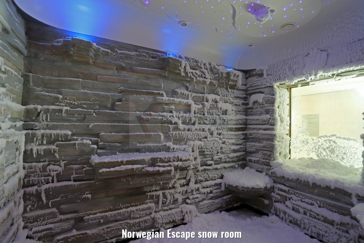 Norwegian Escape snow room