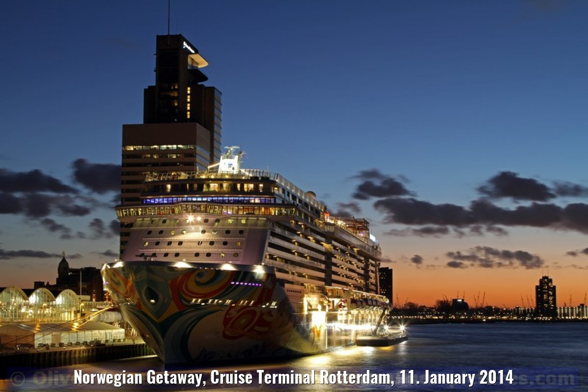 Norwegian Getaway, Cruise Terminal Rotterdam, 11. January 2014