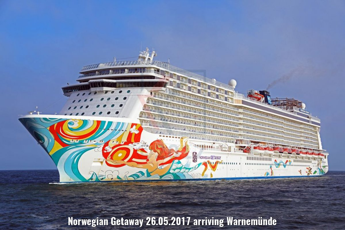 Norwegian Getaway 26.05.2017 arriving Warnemünde