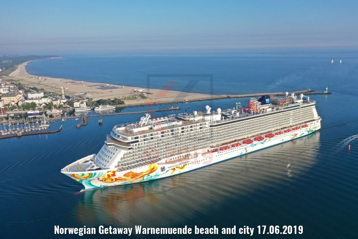 Norwegian Getaway Warnemuende beach and city 17.06.2019