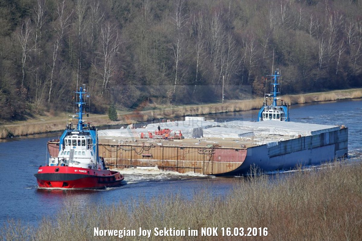 Norwegian Joy Sektion im NOK 16.03.2016