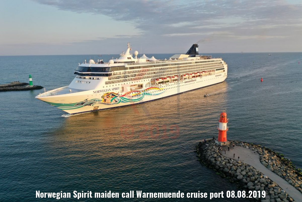 Norwegian Spirit maiden call Warnemuende cruise port 08.08.2019
