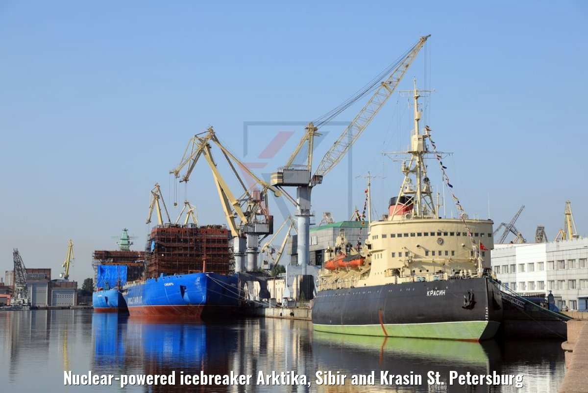 Nuclear-powered icebreaker Arktika, Sibir and Krasin St. Petersburg