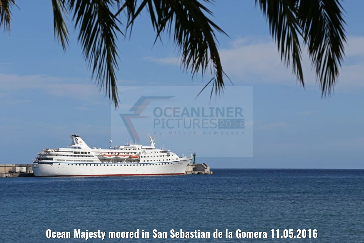 Ocean Majesty moored in San Sebastian de la Gomera 11.05.2016