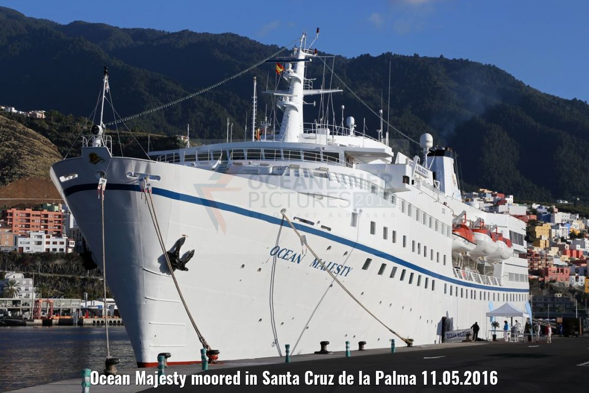Ocean Majesty moored in Santa Cruz de la Palma 11.05.2016
