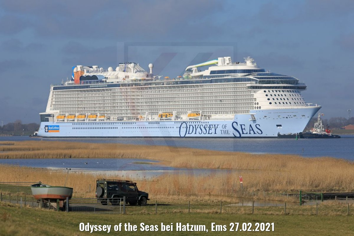 Odyssey of the Seas bei Hatzum, Ems 27.02.2021