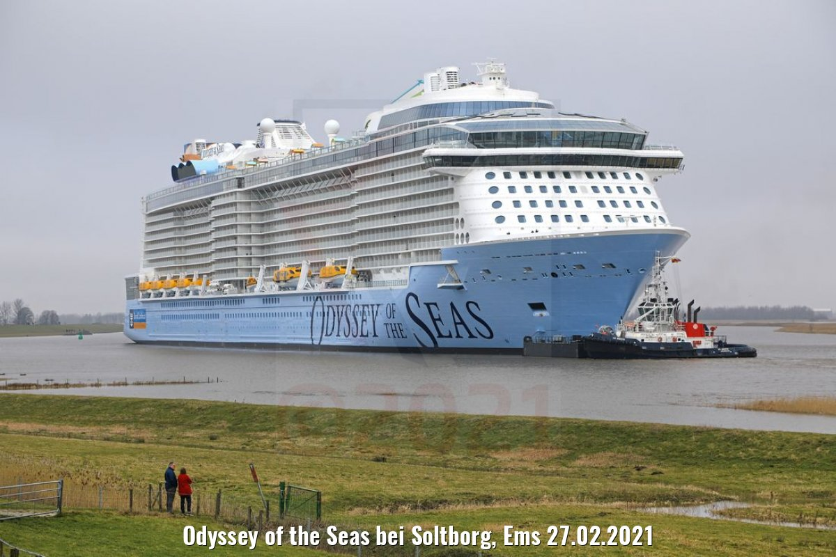 Odyssey of the Seas bei Soltborg, Ems 27.02.2021