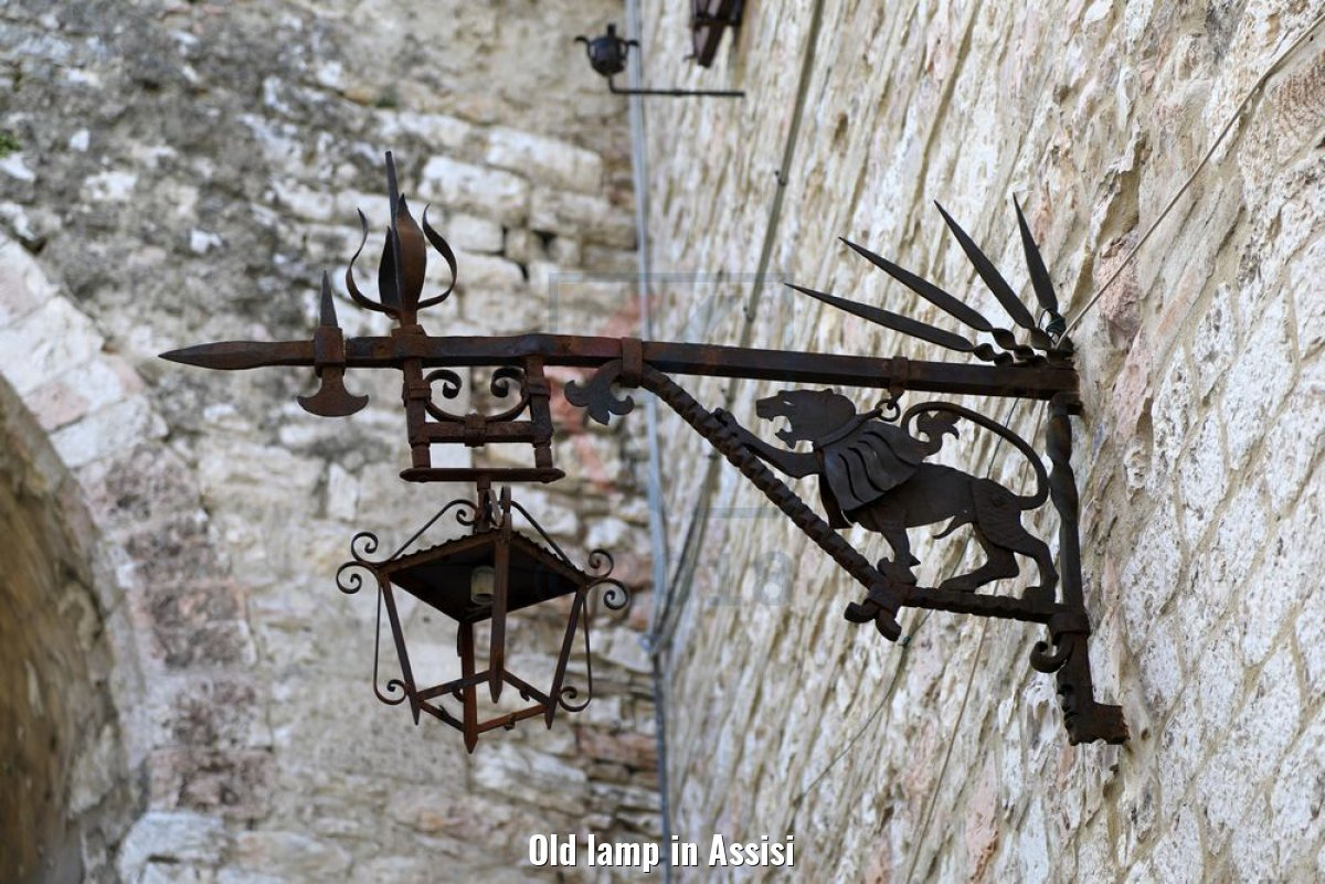 Old lamp in Assisi
