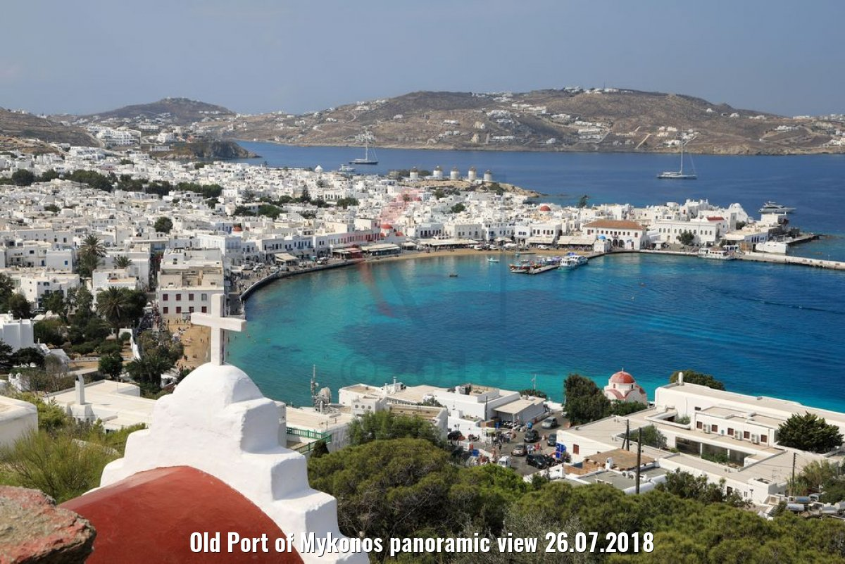 Old Port of Mykonos panoramic view 26.07.2018