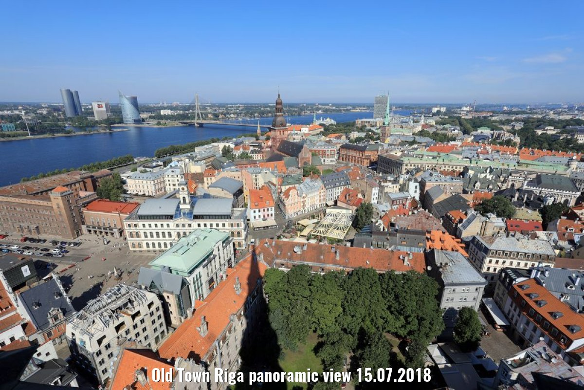Old Town Riga panoramic view 15.07.2018