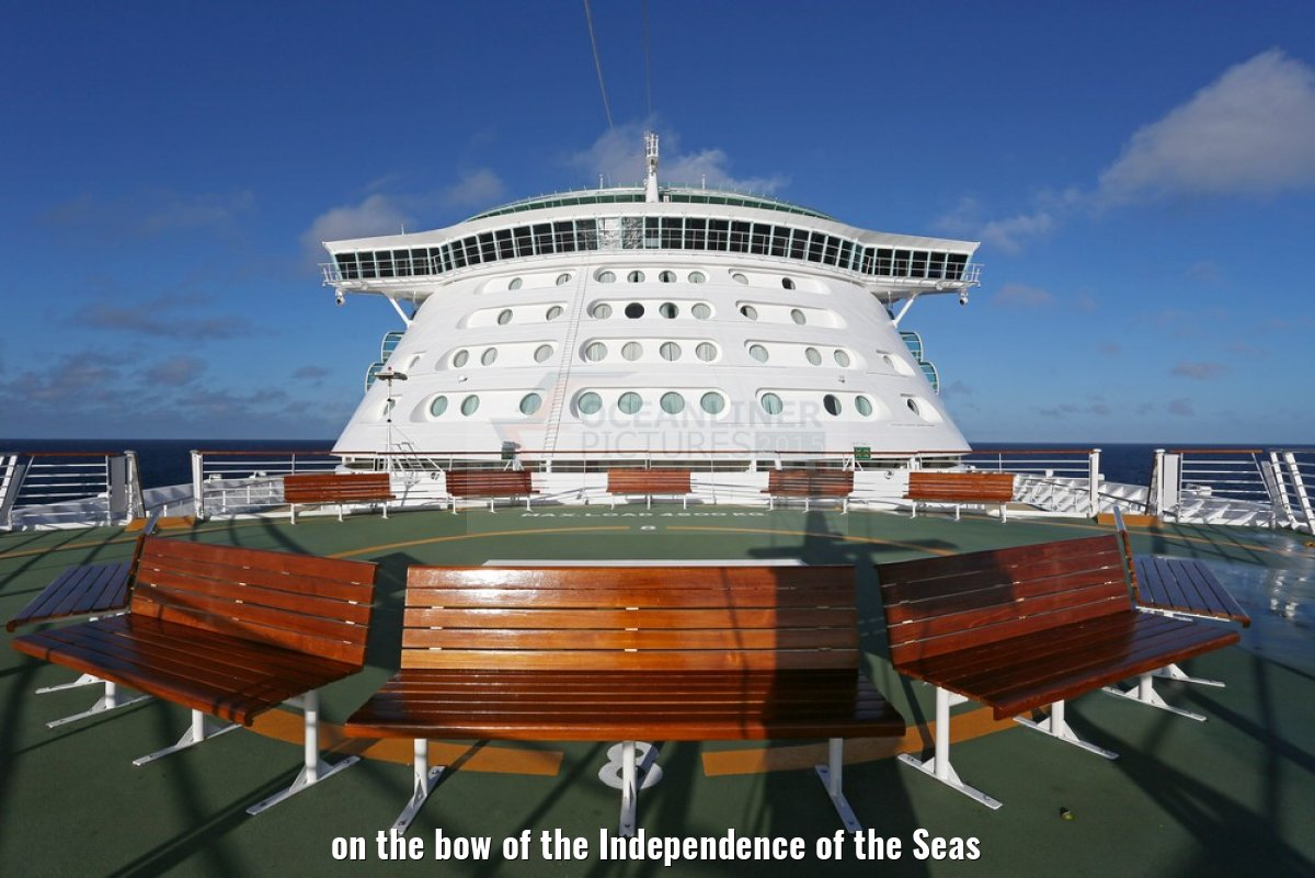on the bow of the Independence of the Seas