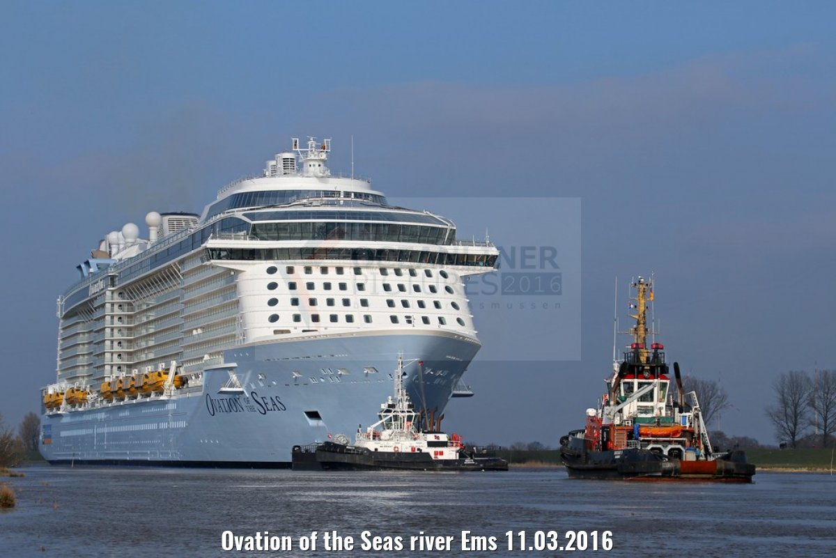 Ovation of the Seas river Ems 11.03.2016