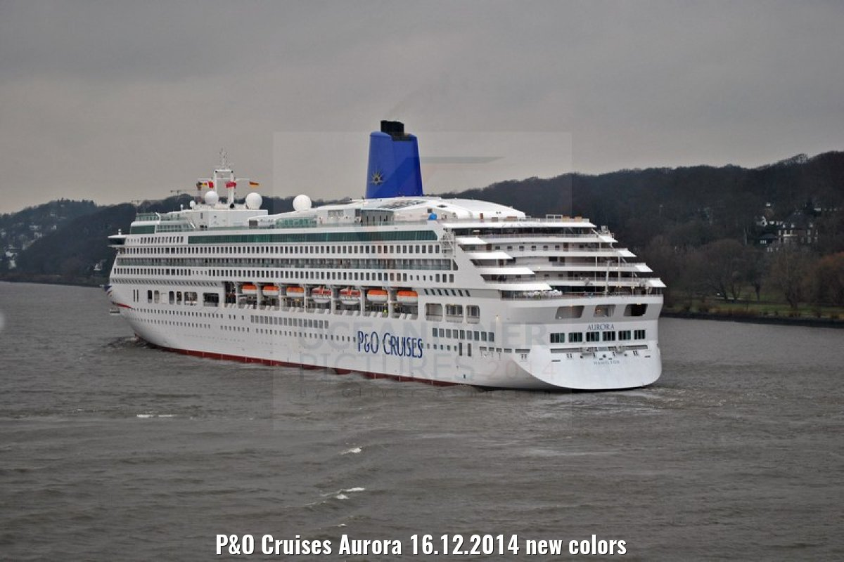P&O Cruises Aurora 16.12.2014 new colors