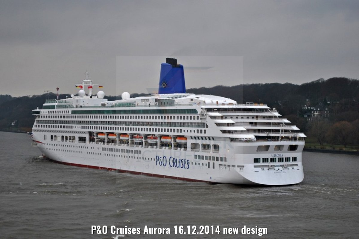P&O Cruises Aurora 16.12.2014 new design