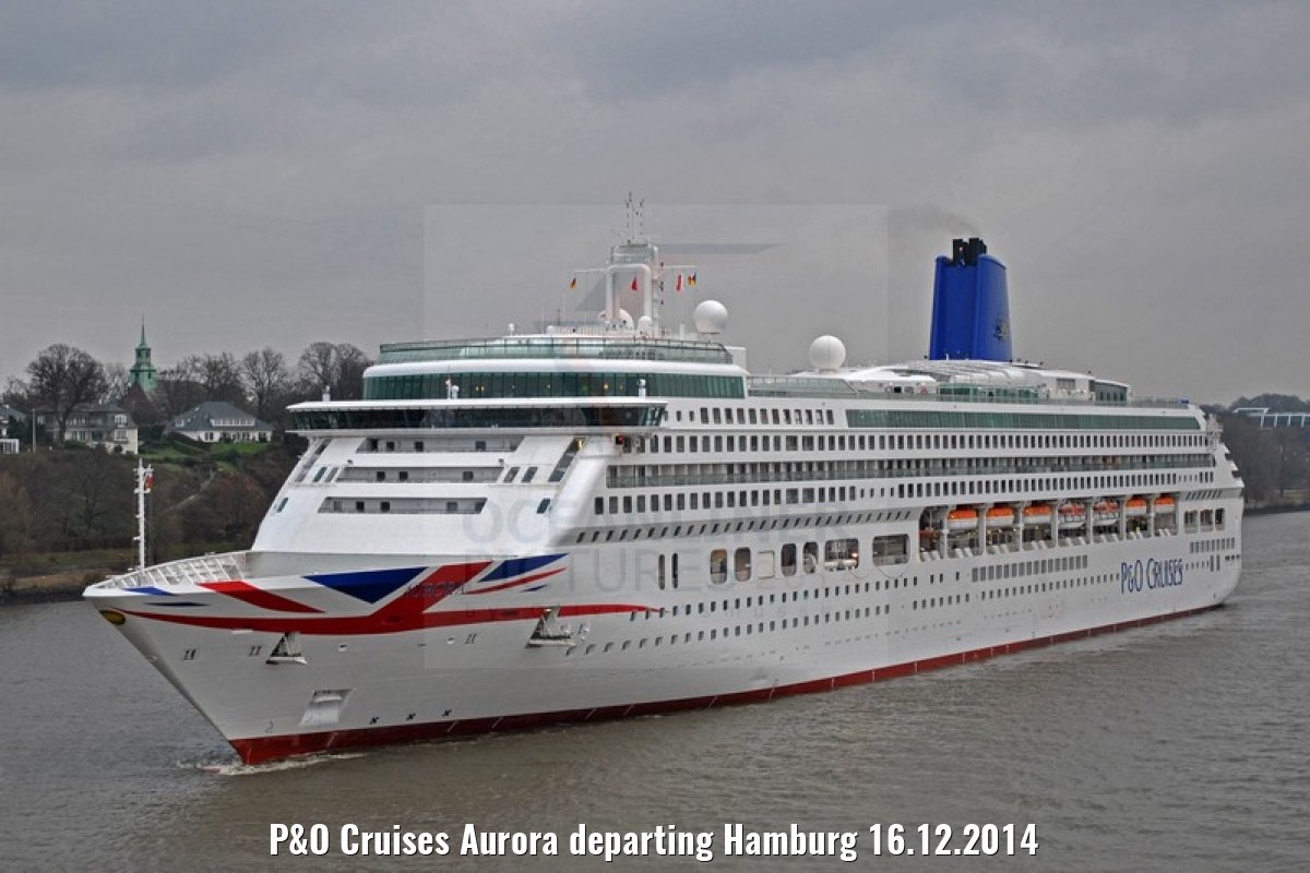 P&O Cruises Aurora departing Hamburg 16.12.2014