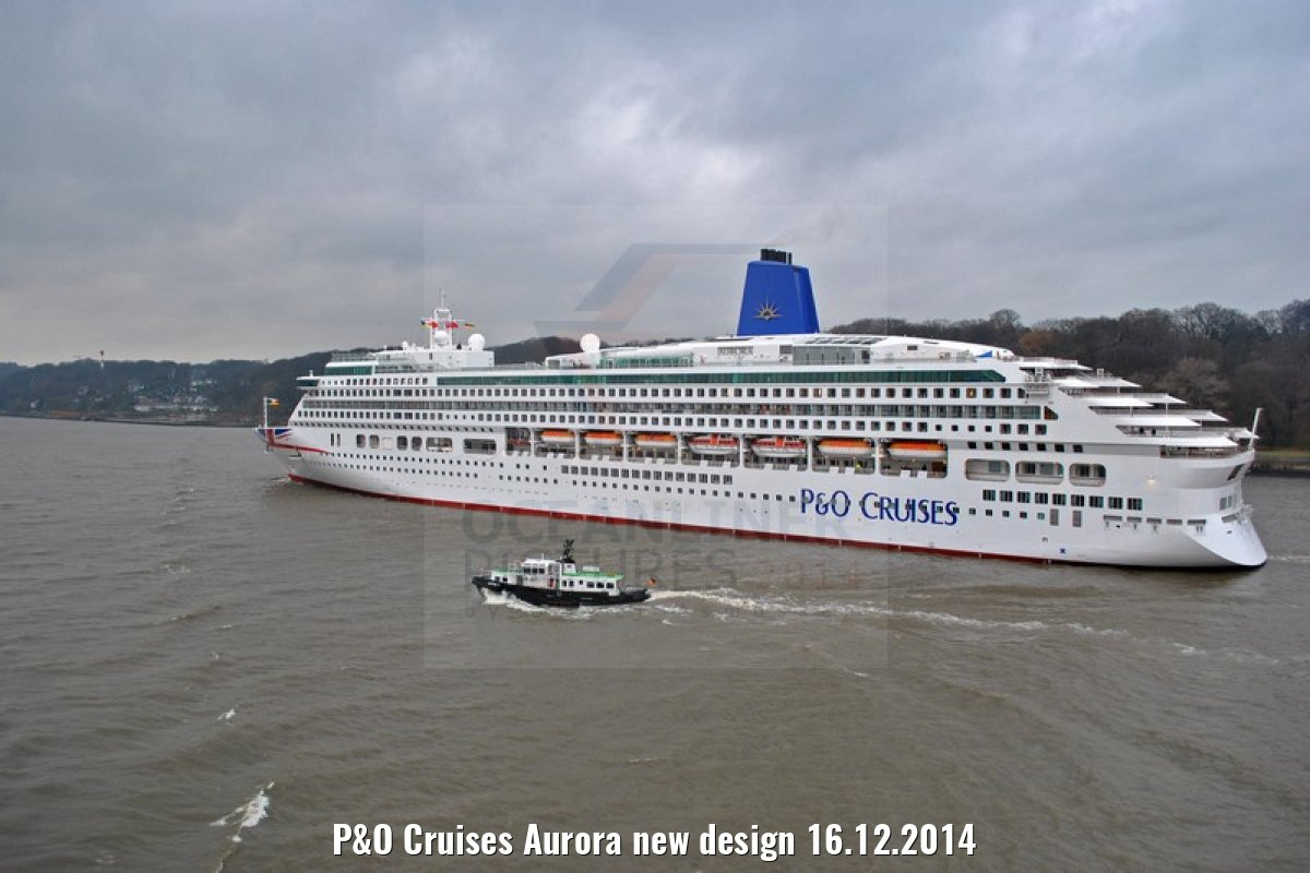 P&O Cruises Aurora new design 16.12.2014