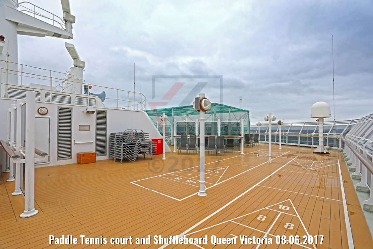 Paddle Tennis court and Shuffleboard Queen Victoria 08.06.2017