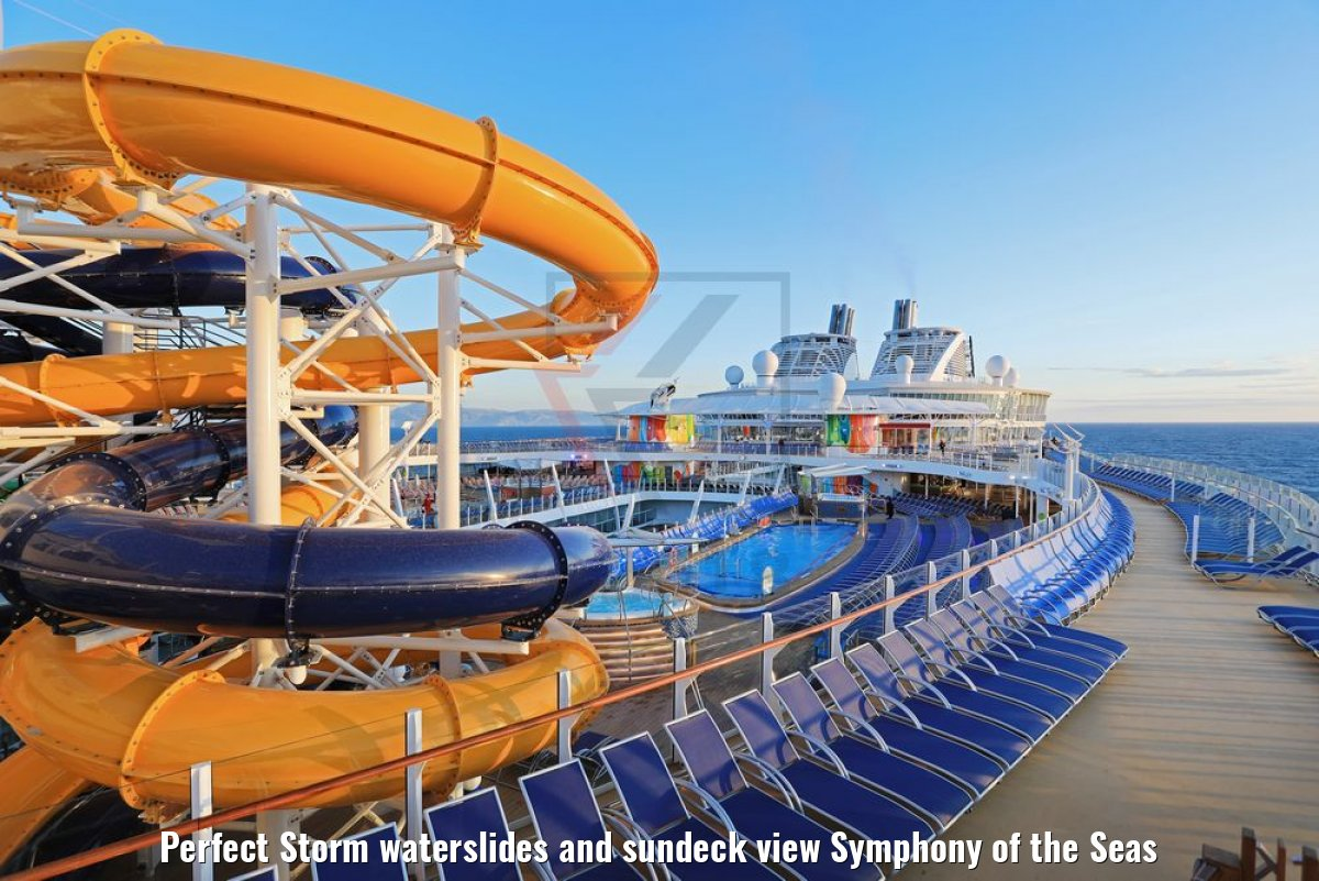 Perfect Storm waterslides and sundeck view Symphony of the Seas