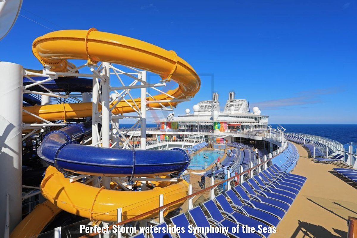 Perfect Storm waterslides Symphony of the Seas