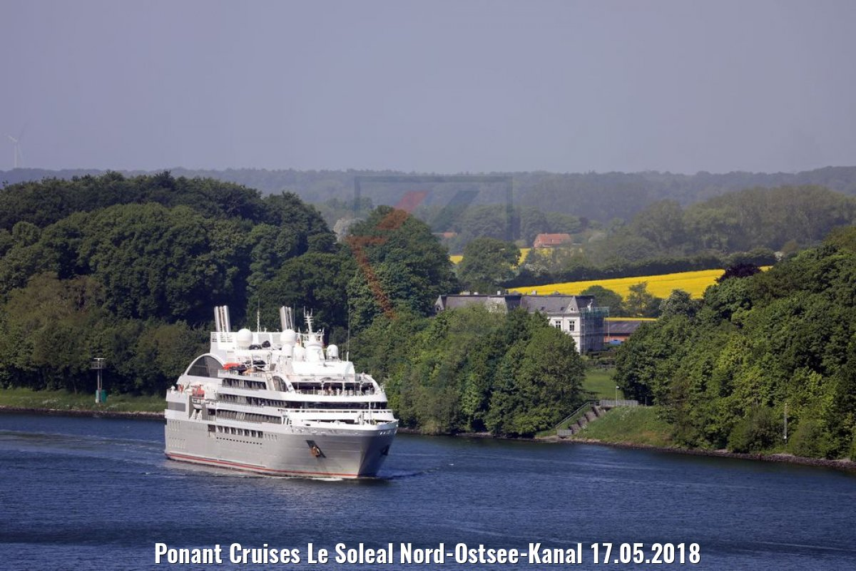 Ponant Cruises Le Soleal Nord-Ostsee-Kanal 17.05.2018