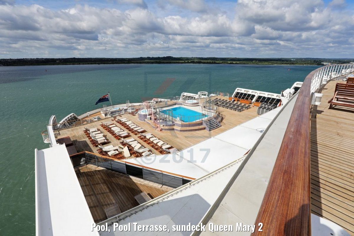 Pool, Pool Terrasse, sundeck Queen Mary 2