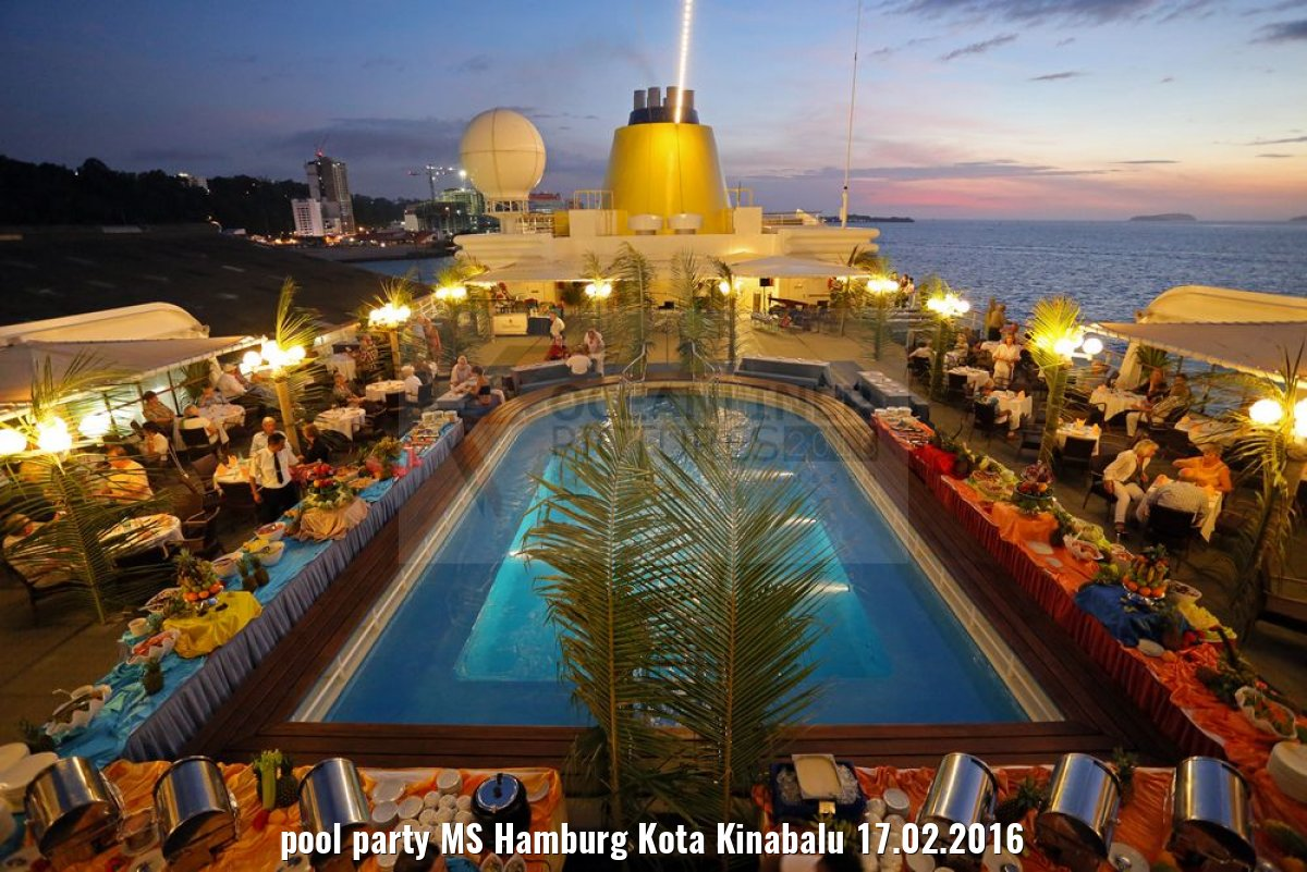 pool party MS Hamburg Kota Kinabalu 17.02.2016