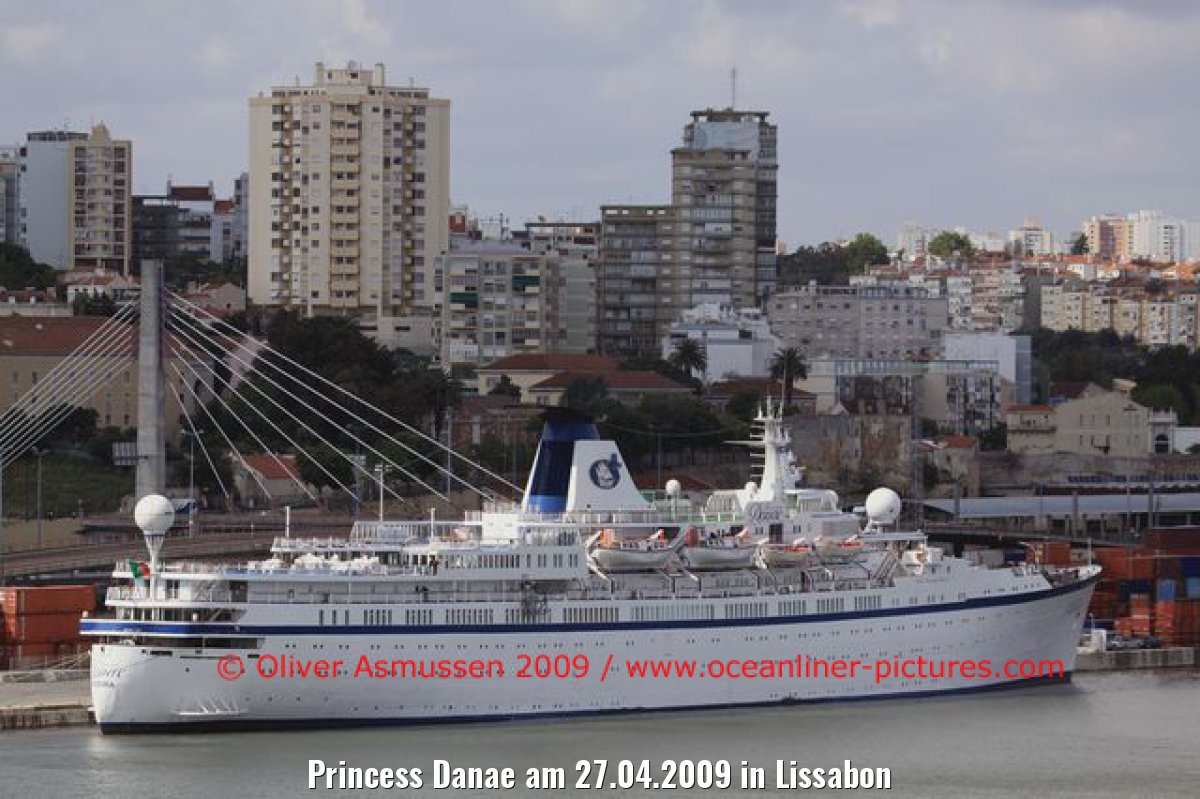 Princess Danae am 27.04.2009 in Lissabon