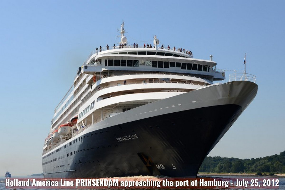 Holland America Line PRINSENDAM approaching the port of Hamburg - July 25, 2012