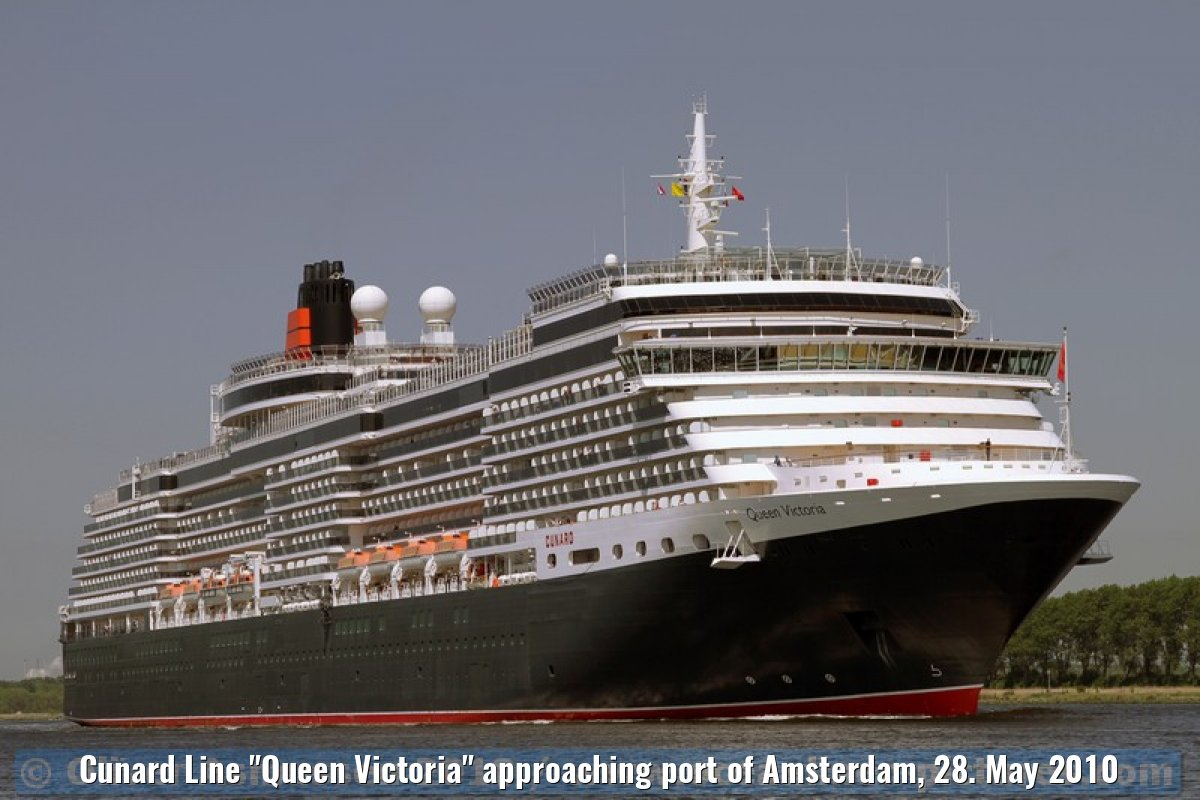 "Cunard Line ""Queen Victoria"" approaching port of Amsterdam, 28. May 2010"