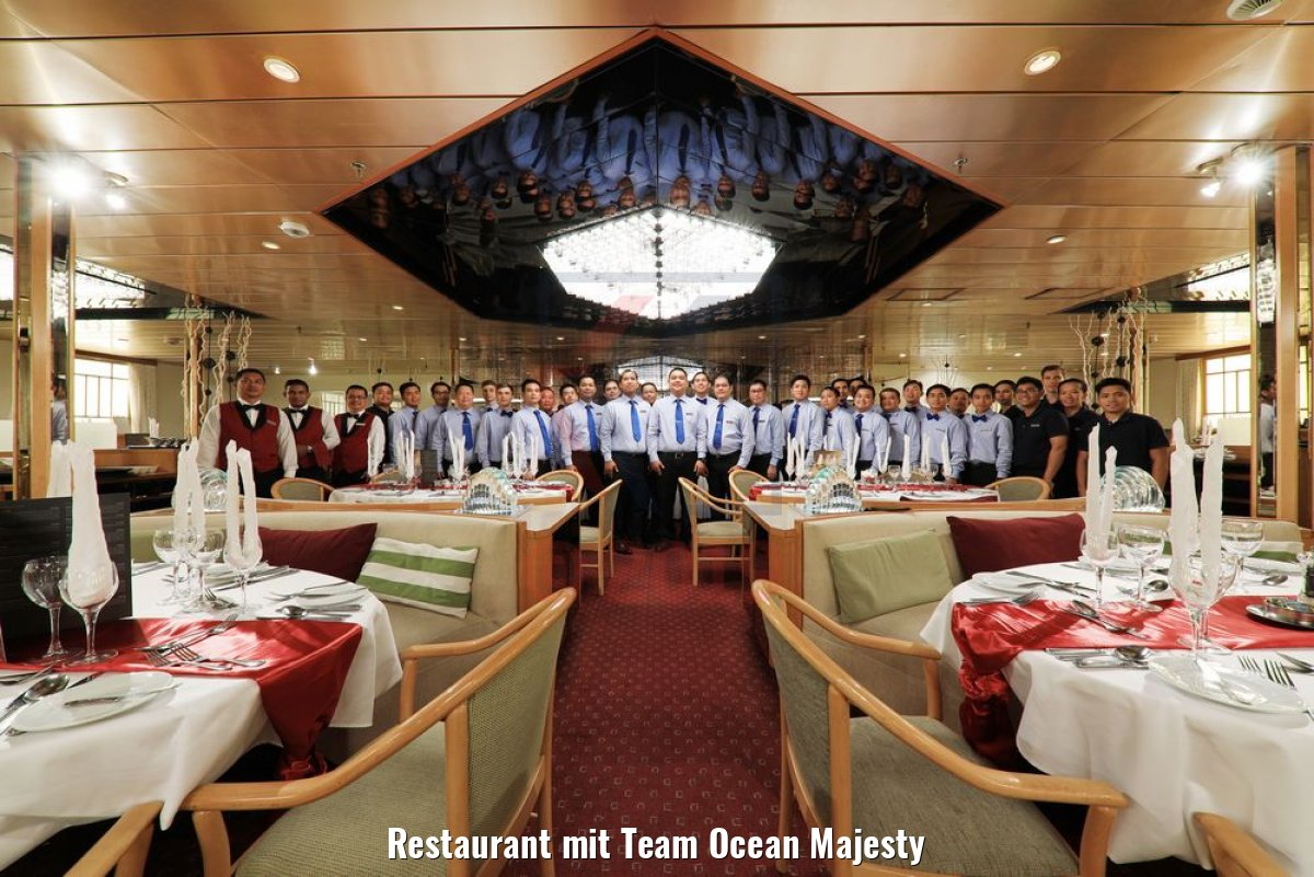 Restaurant mit Team Ocean Majesty
