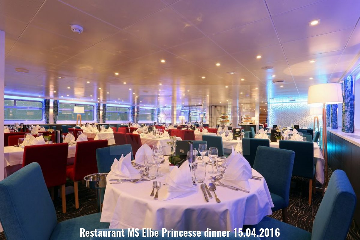 Restaurant MS Elbe Princesse dinner 15.04.2016