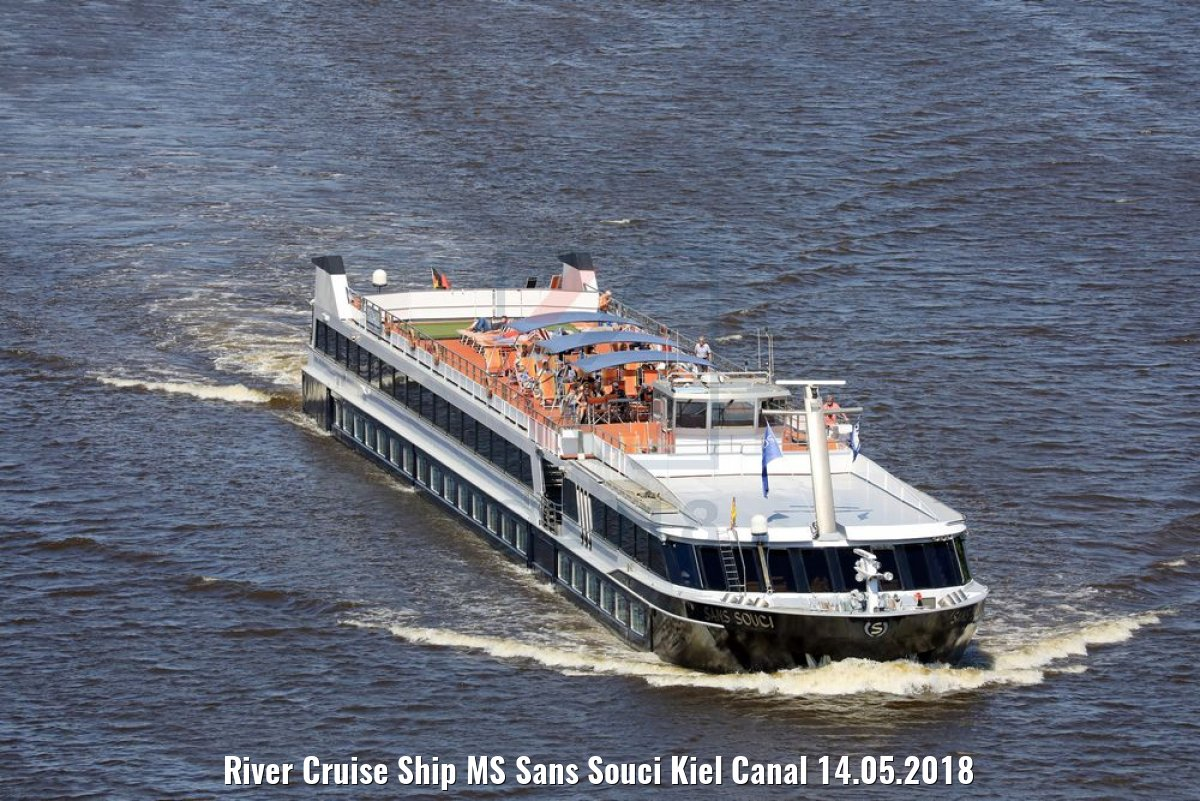 River Cruise Ship MS Sans Souci Kiel Canal 14.05.2018