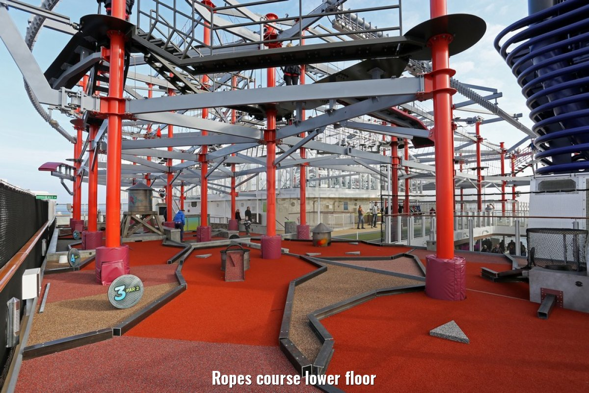 Ropes course lower floor