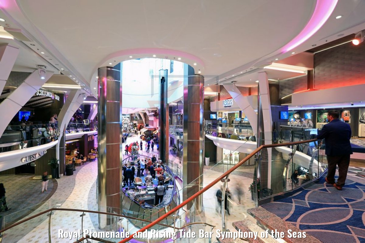 Royal Promenade and Rising Tide Bar Symphony of the Seas