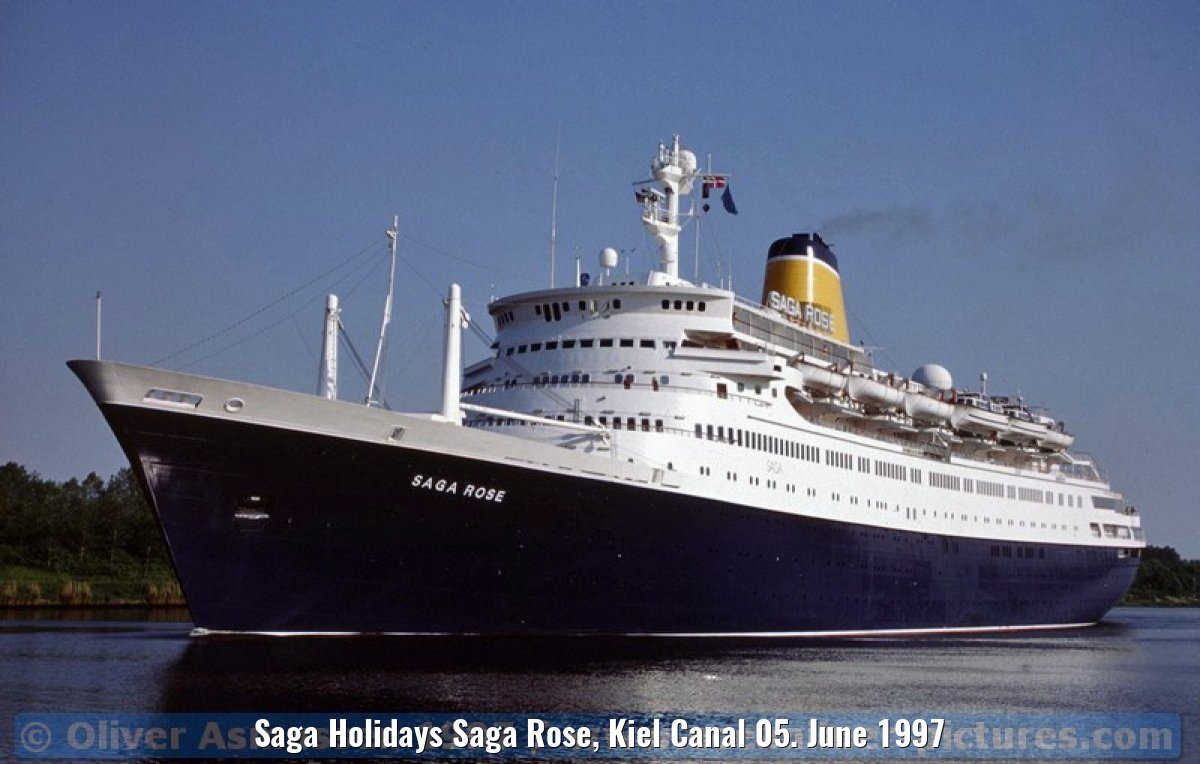 Saga Holidays Saga Rose, Kiel Canal 05. June 1997