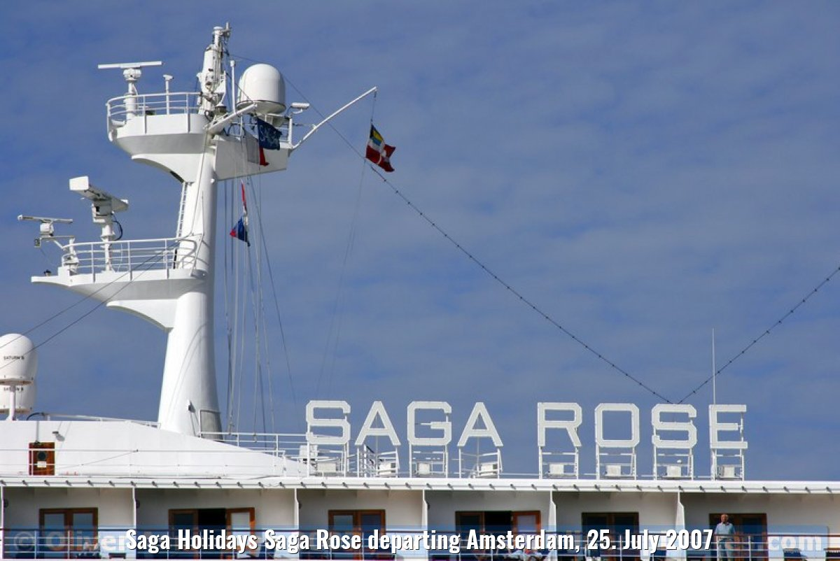 Saga Holidays Saga Rose departing Amsterdam, 25. July 2007