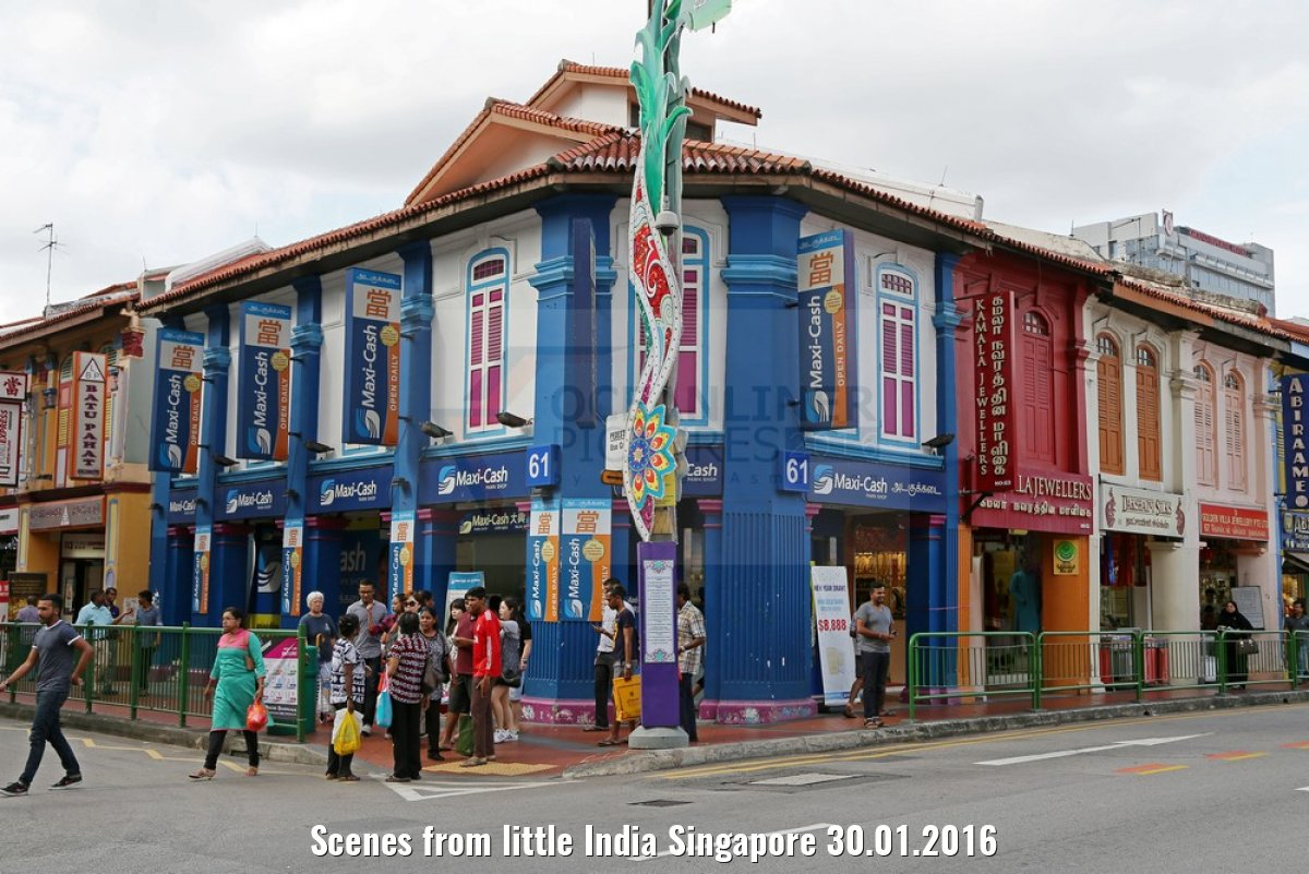 Scenes from little India Singapore 30.01.2016