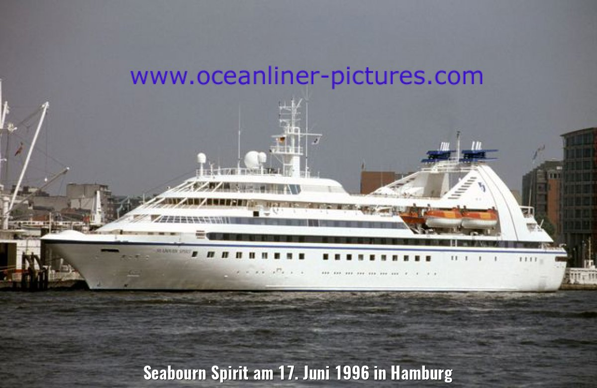 Seabourn Spirit am 17. Juni 1996 in Hamburg